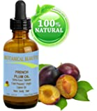 French PLUM KERNEL Seed Carrier Oil. 100% Pure / Natural / Undiluted / Virgin / Cold Pressed for Skin, Hair, Lip and Nail Care. Skin SuperFood. 0.5 fl. oz -15 ml. by Botanical Beauty