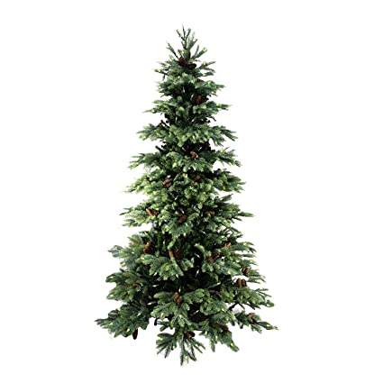 allstate 7 pre lit new england pine medium artificial christmas tree with pine cones
