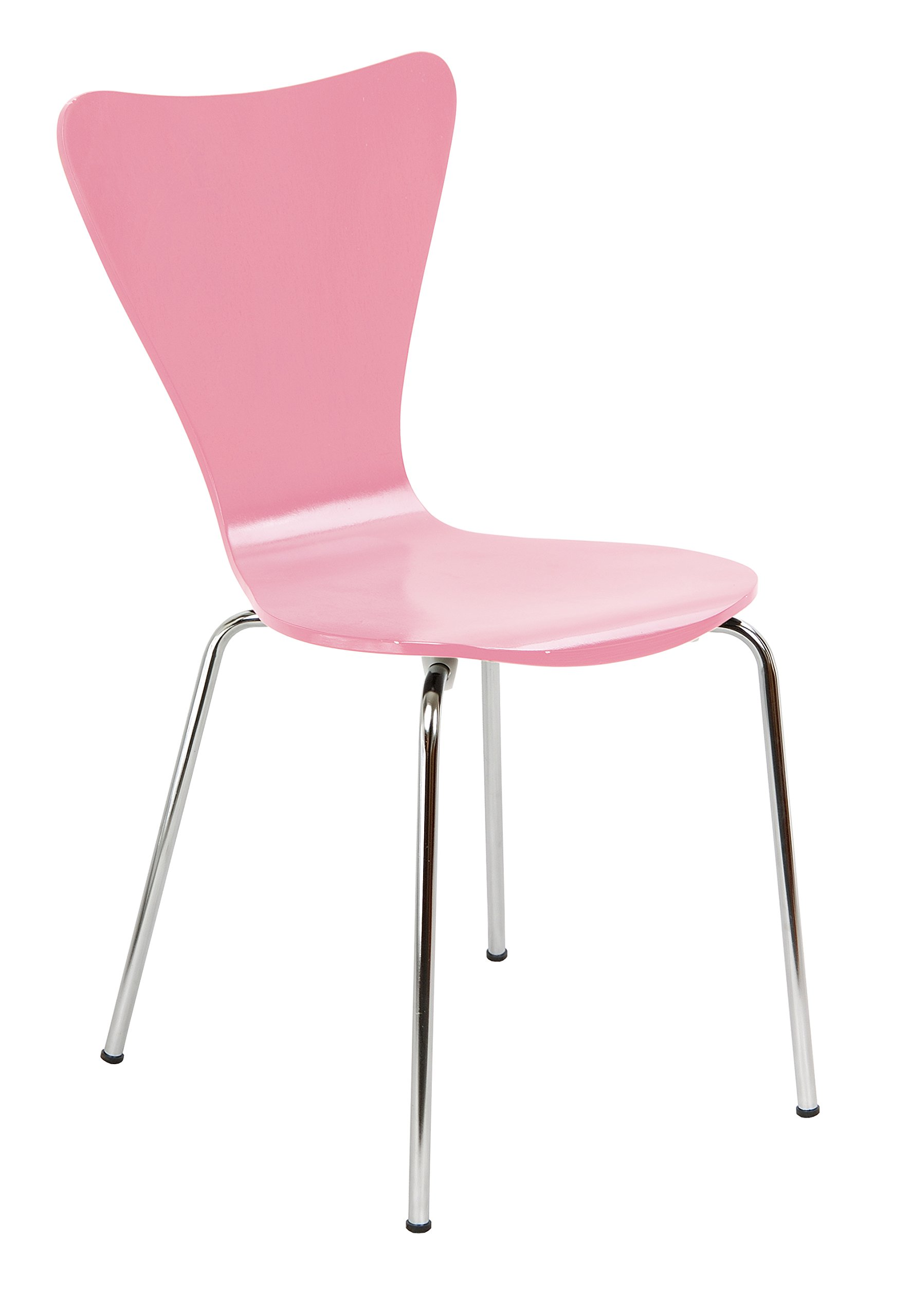Legare LEGE-CHSM-110 Bent Plywood Chair, Pink