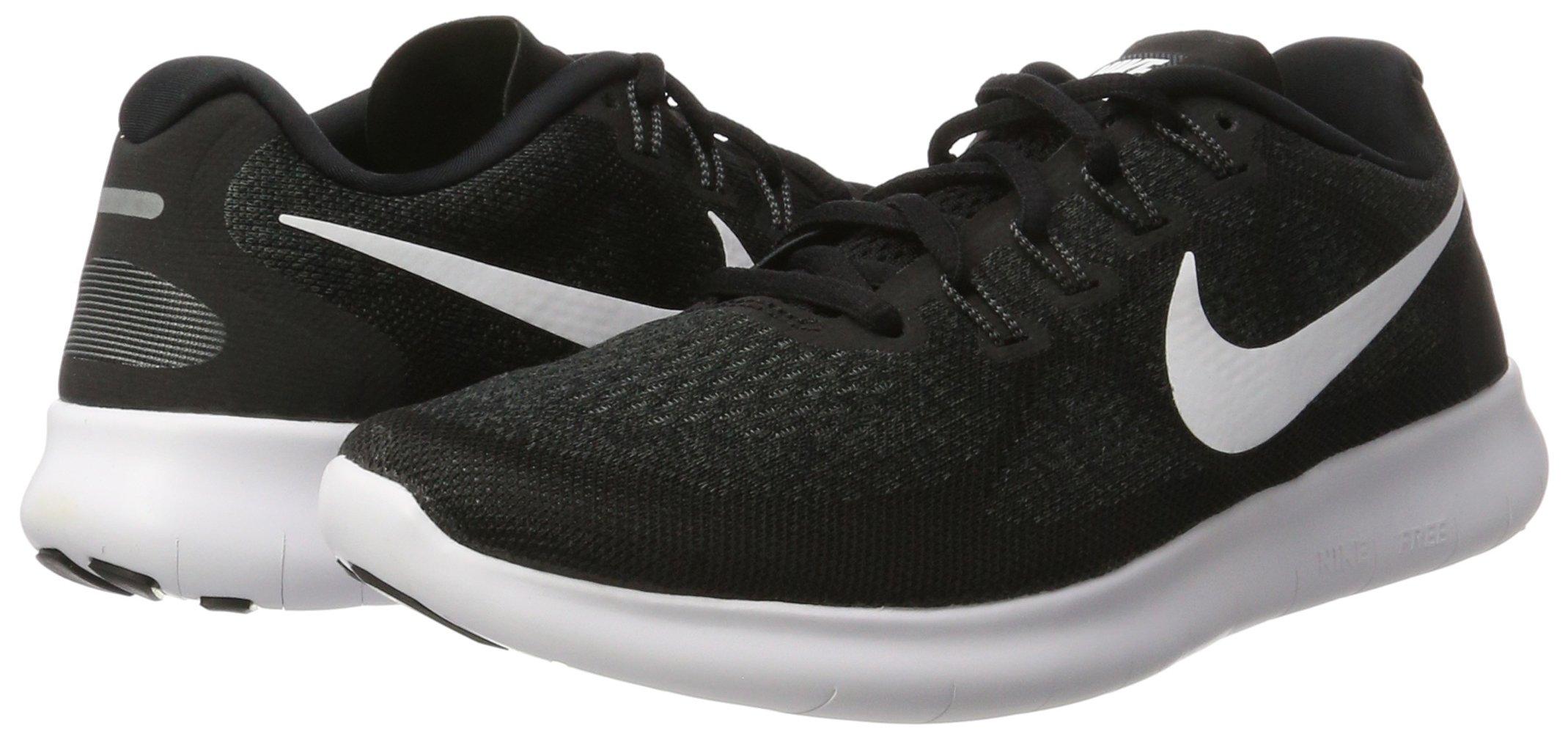 Nike Men's Free RN 2017 Running Shoe Black/White/Dark Grey/Anthracite Size 7.5 M US by Nike (Image #5)
