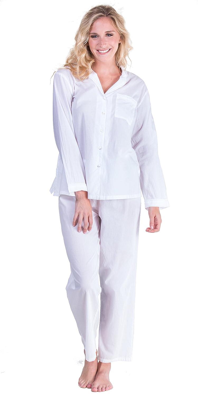 La Cera Boutique Long Sleeve Cotton Pajama Set in Essential White (X-Large  (18-20) 9bafa6d80