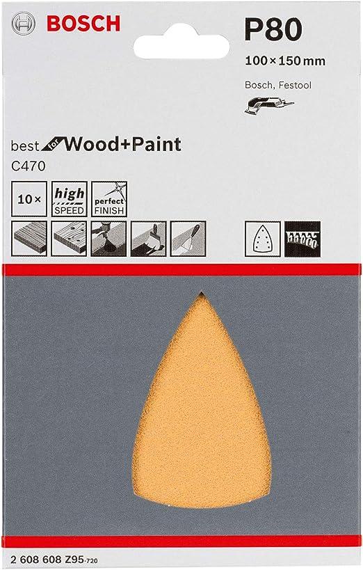 320 Bosch Pastille de sablage papier c470 115 mm 50er-Pack ungelocht