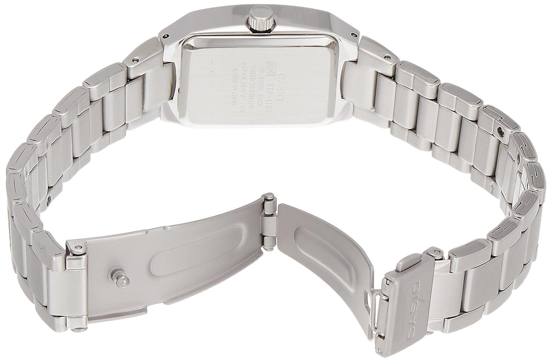 CASIO LTP-1165A-7C2 Women s Enticer Ladies Silver White Stainless Steel Analog Quartz Watch