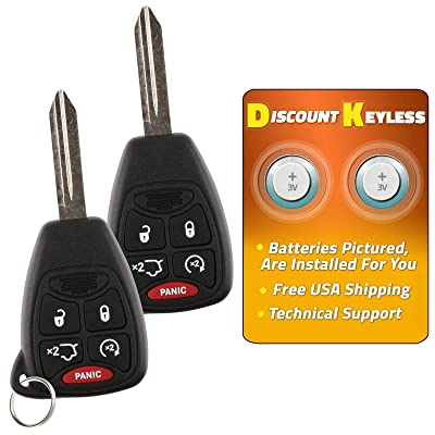 Discount Keyless Replacement Uncut Car Remote Fob Key Combo Compatible with OHT692713AA, OHT692427AA (2 Pack): Automotive