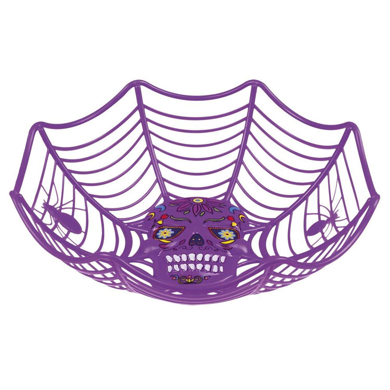 Boland 97065 - Ciotola Decorativa, Motivo: Halloween, 25 cm, Colore: Lilla