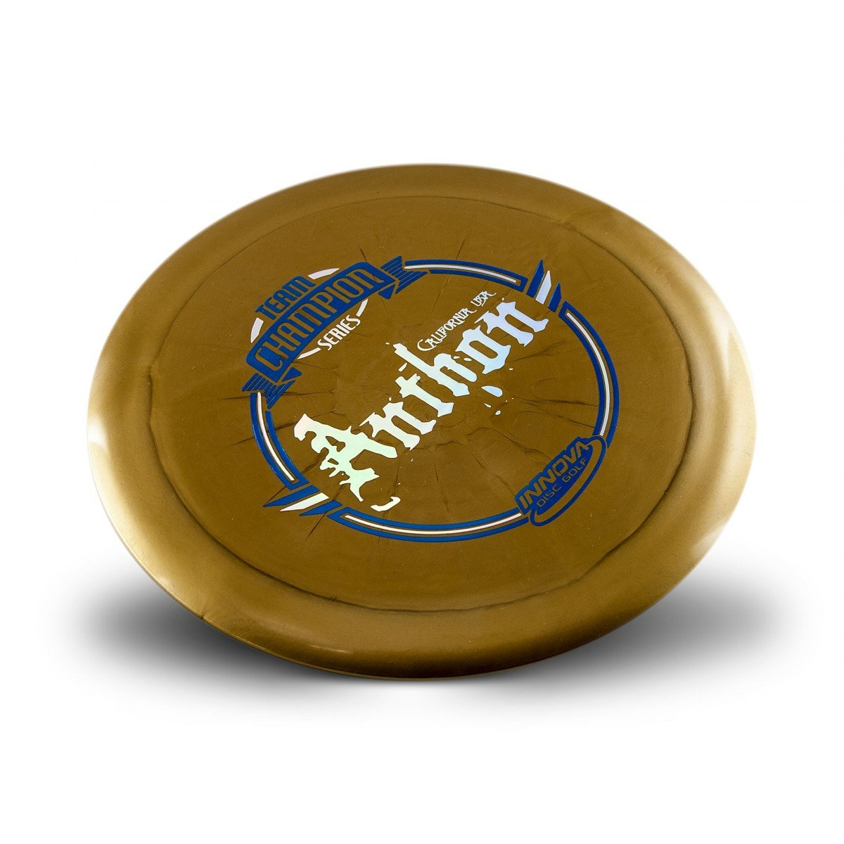 Innova Limited Edition Team Champion Tour Series Josh Anthon Shimmer Star Destroyer Disc Golf Distance Driver (Stamp colors may vary) (Gold)