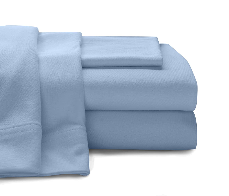 Baltic Linen Company Cotton Jersey Sheet Set, California King, White INC. 0361128450