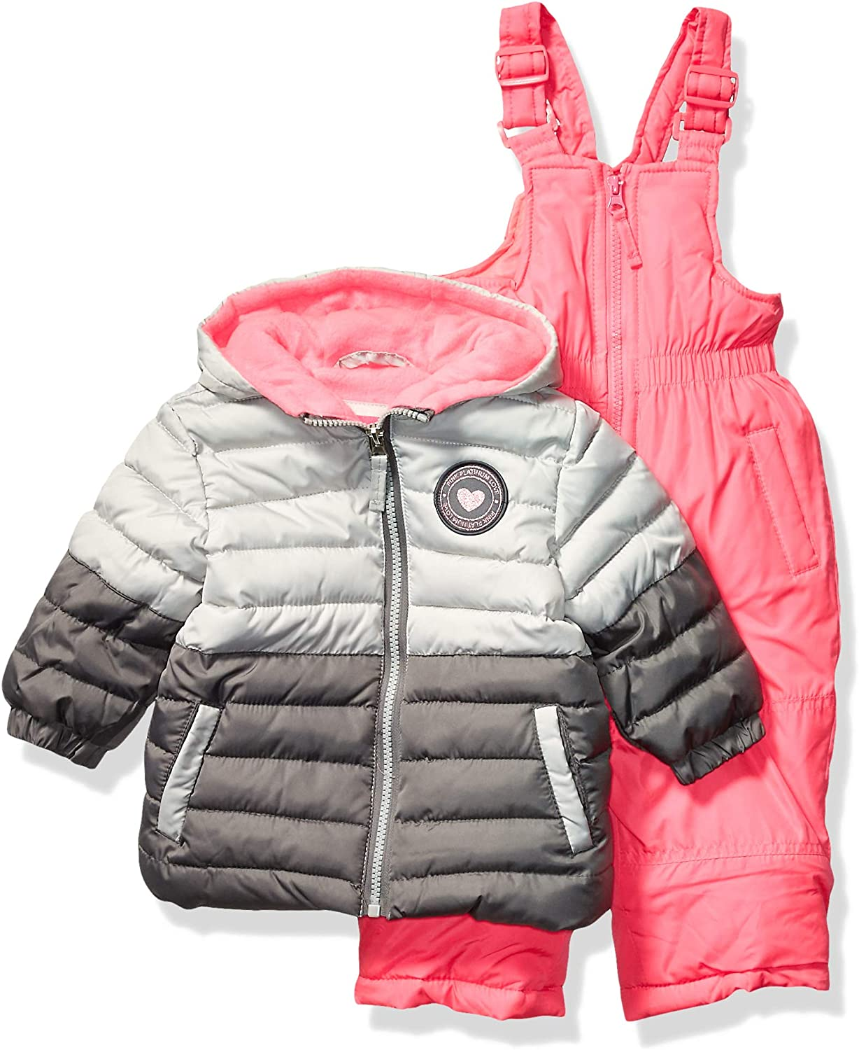 Pink Platinum Baby Girls Insulated Two-Piece Snowsuit