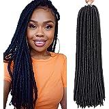 6 Packs/lot Dreadlocks Crochet Braids Soft Faux Locs Crochet Hair Synthetic Braiding Hair Bomba Dreadlocks Faux Locs…