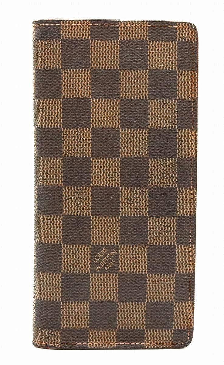 [ルイ ヴィトン] LOUIS VUITTON ダミエ ポルトフォイユ ブラザ 2つ折長財布 N60017 [中古]   B07QZQ12LH