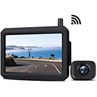 5 Inch Wireless Backup Camera Kit with Digital Signal, Waterproof Rear View Camera with 5″ TFT-LCD Monitor, Ideal for…