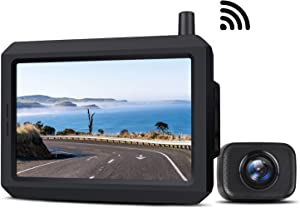 Wireless Backup Camera Kit with Digital Signal, Waterproof Rear View Camera with 5″ TFT-LCD Monitor, Ideal for Sedans, Pickup Truck, SUV, Minivans (BOSCAM K7)