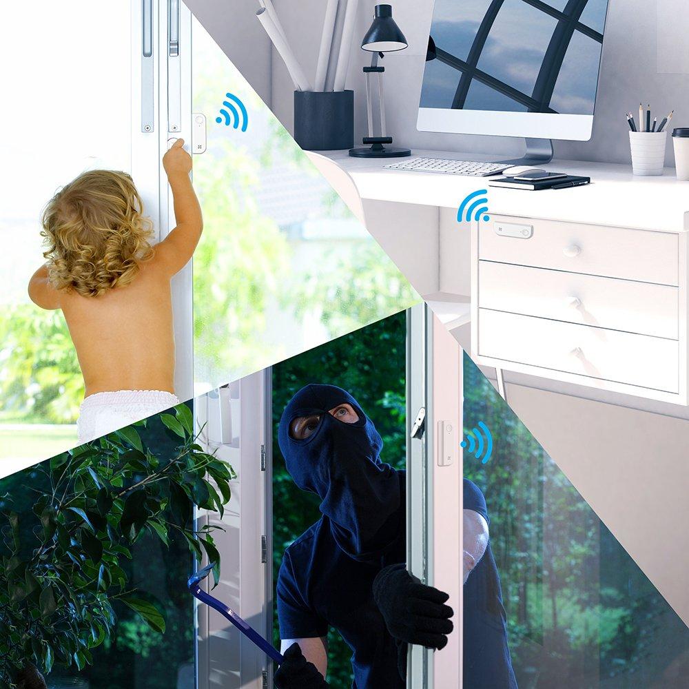 1 sensor PIR inal/ámbrico inmune a las mascotas WIFI 1 sensor de puertas y ventanas inal/ámbrico 1 mando a distancia T1C T6 A1 EZVIZ Kit de alarma incluye 1 central de alarma conectada a Internet