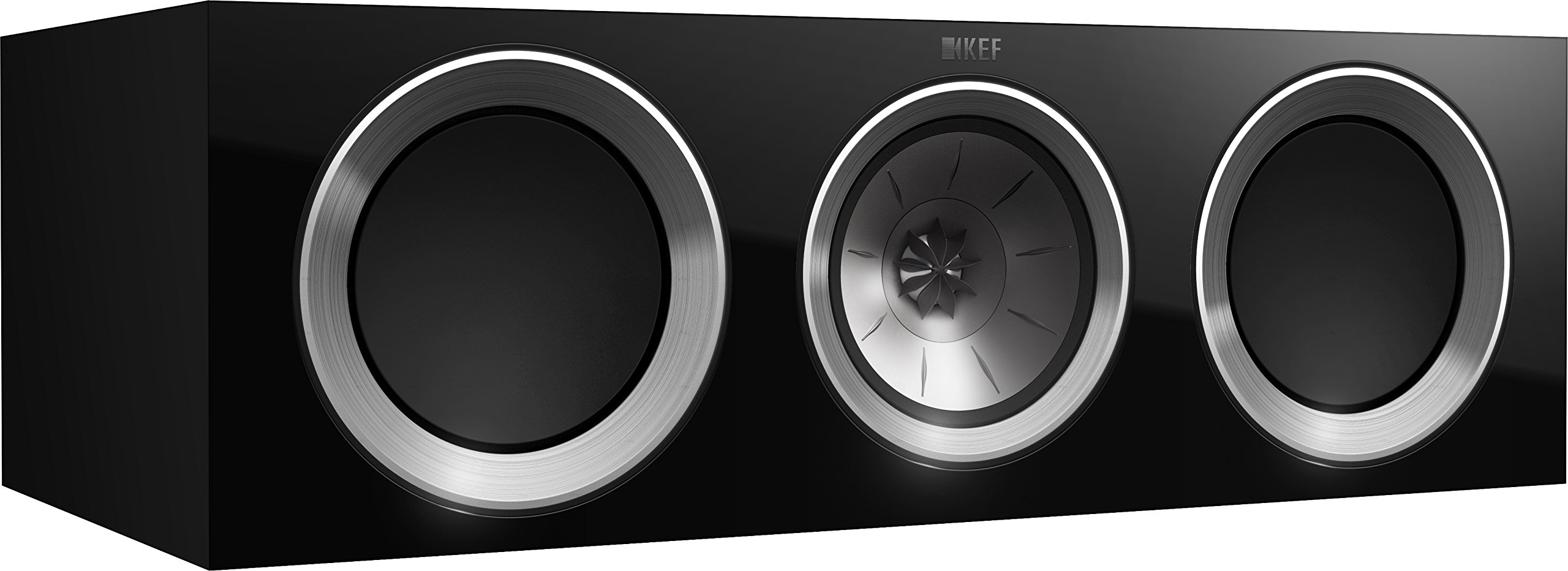 KEF R200c Center Channel Loudspeaker - High Gloss Piano Black (Single)