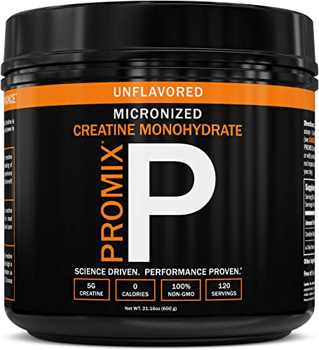 Creatine Monohydrate Powder Micronized Unflavored Instant Keto Paleo I PROMIX I 1 Ingredient 100 Purity I 3rd Party Tested I Non GMO Gluten Soy Free I Men Performance Pre 100 Pure Choice I Lean