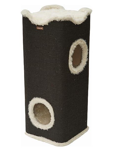 Cubo con rascador y camas para gato, de la marca Nanook. Forma ...