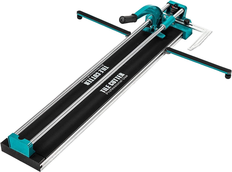 Sfeomi Cortador de Azulejos Manual 1200mm Cortadora de Azulejos Profesional Cortador de Azulejos de Cerámica con Guía Láser Ajustable para Corte de Precisión (1200mm)
