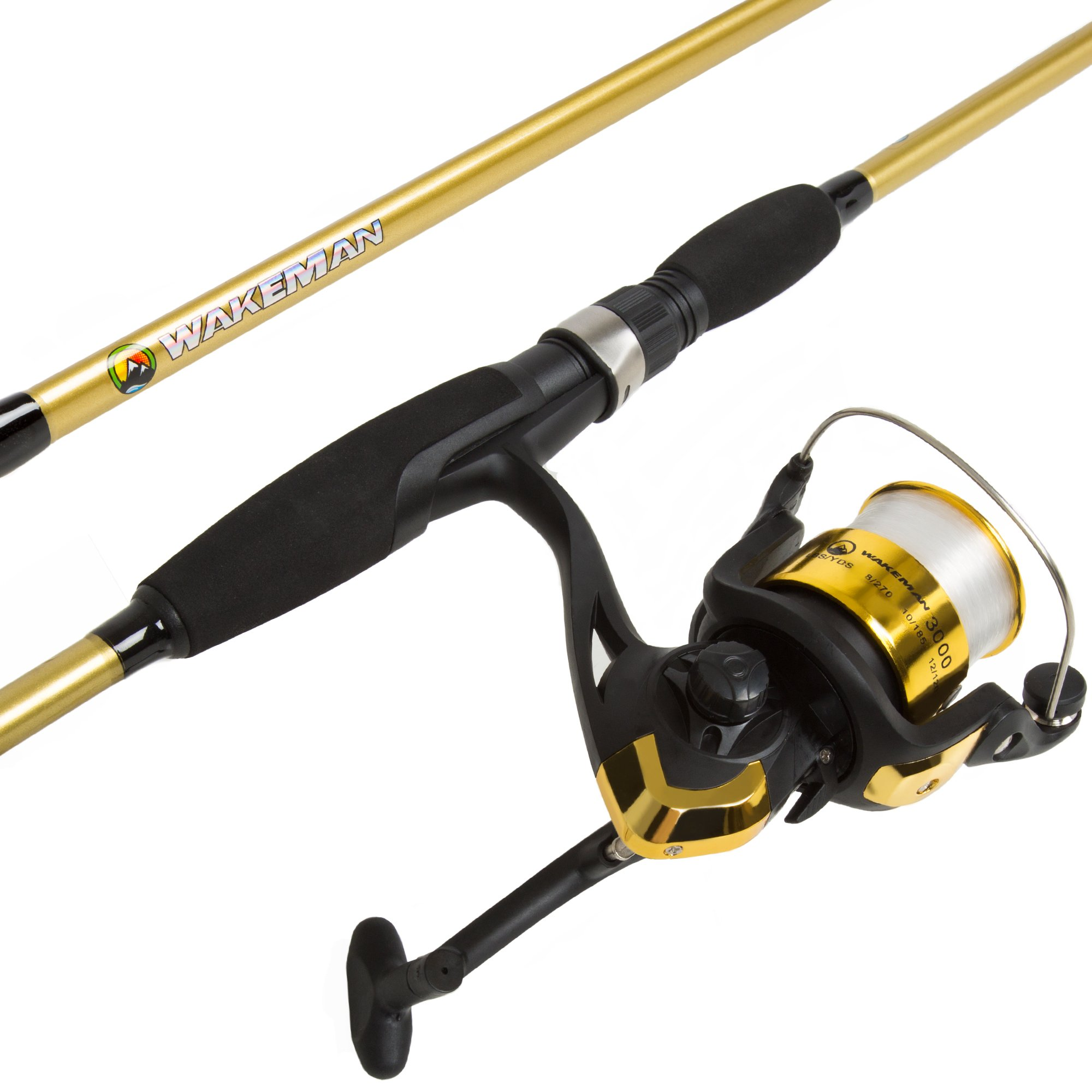 Wakeman Strike Series Spinning Rod and Reel Combo - Trophy Gold