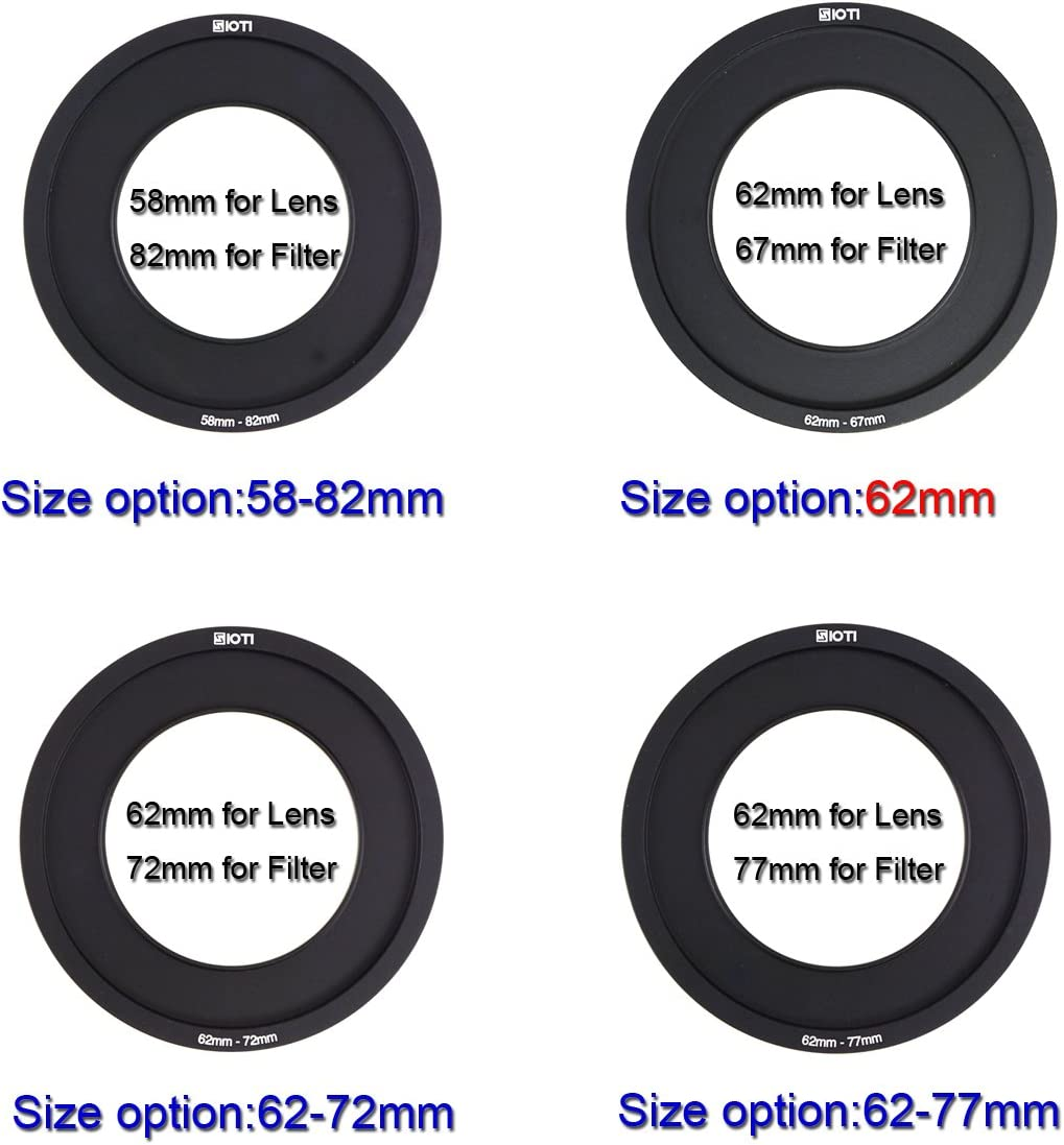 SIOTI 100mm Square Z Series Metal Adapter Ring only for SIOTI Metal Modular Filter Holder 67mm