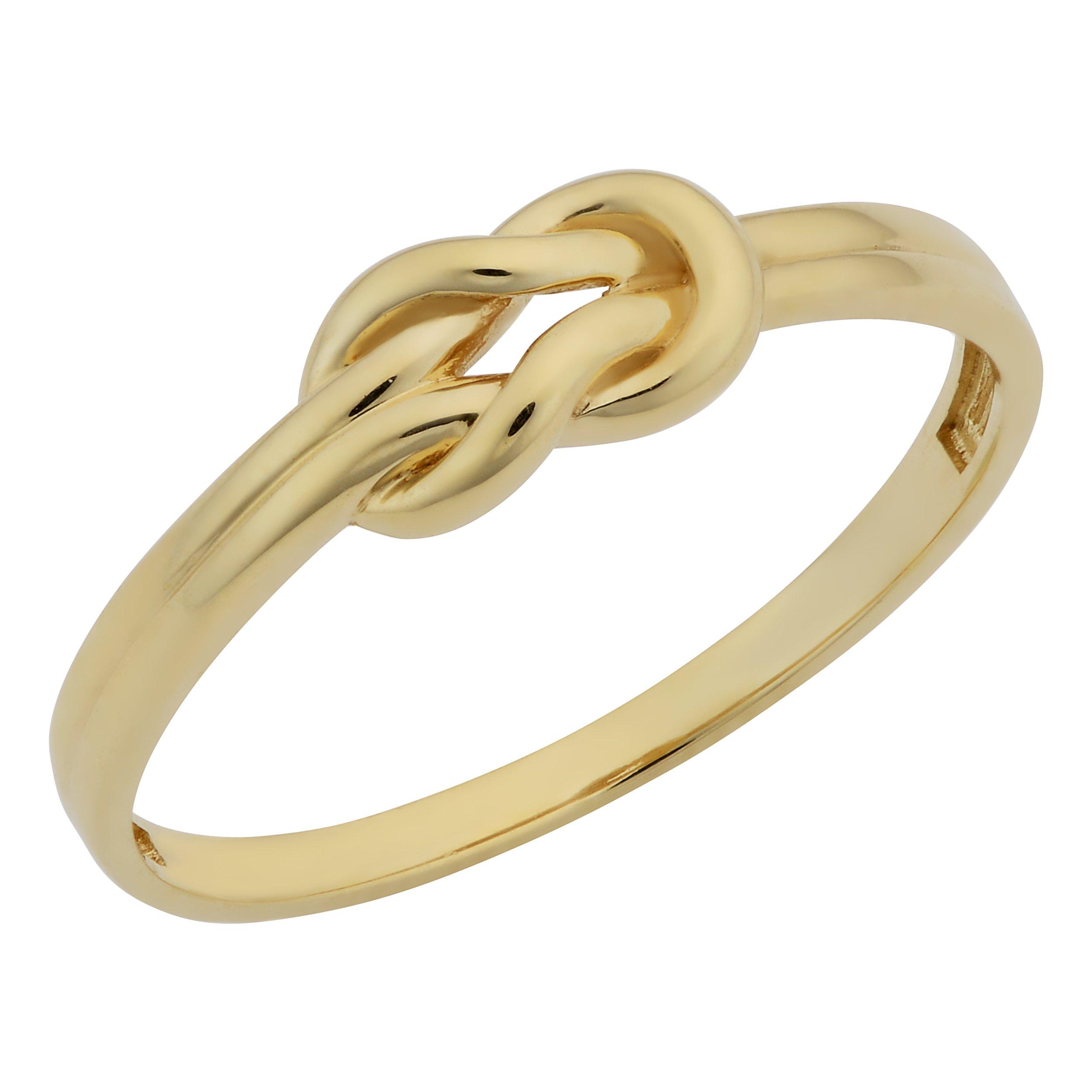 14k Yellow Gold High Polish Love Knot Ring (size 8)