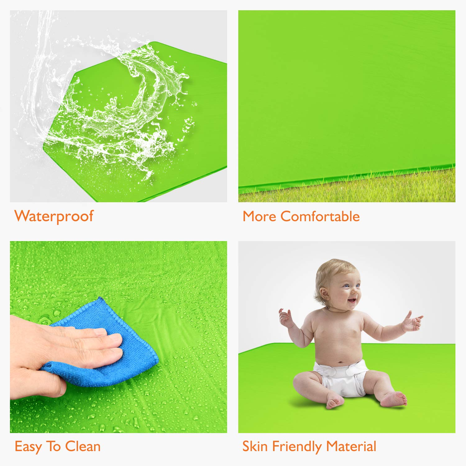 Self Inflatable Comfortable with Carry Case Green Compatible with Summer Pop N Play Playard Hoybell Playard Mattress