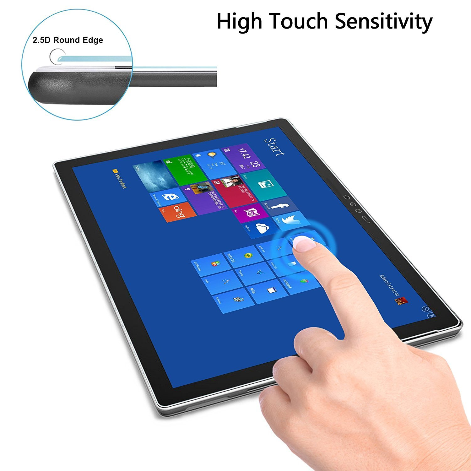 Protect Eyesight Tempered Glass Screen Shield MEGOO New Surface Pro 6 Screen Protector 2018, Also Compatible For Microsoft Surface Pro 6//5//4 12.3 Inch Blue Light Blocking Glass Quick Response