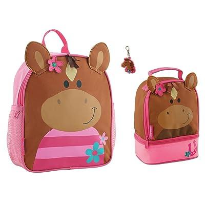 Stephen Joseph Girls Mini Horse Backpack, Lunch Pal and Zipper Pull - Kids Bags