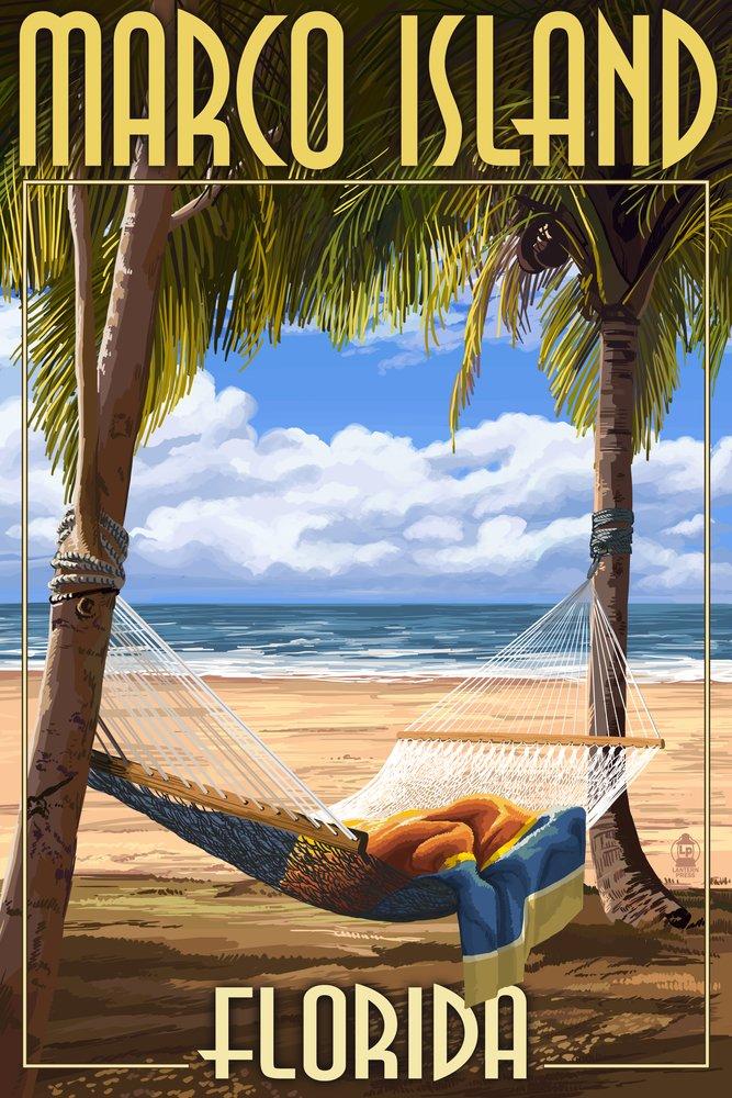 最先端 Marco島、フロリダ州 – ハンモックシーン 12 x 36 18 x Metal Sign 24 LANT-42857-12x18M B00N5CU7A8 24 x 36 Giclee Print 24 x 36 Giclee Print, 新城市:6d85222c --- mcrisartesanato.com.br
