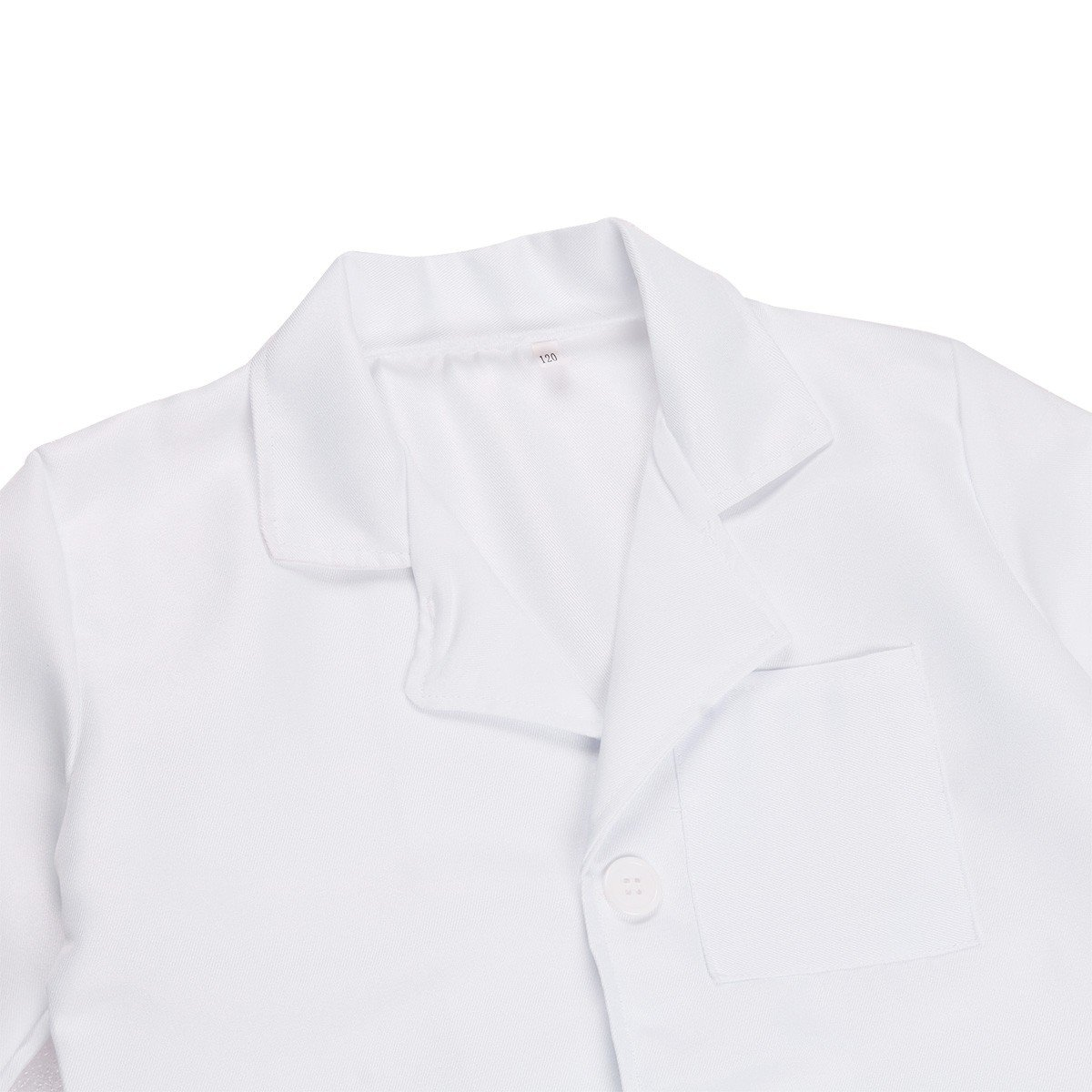 FEESHOW Kids Boy Girl Long Sleeve White Lab Coat Doctor Uniform Outfit Cosplay Costume White 7-8 by EESHOW (Image #3)
