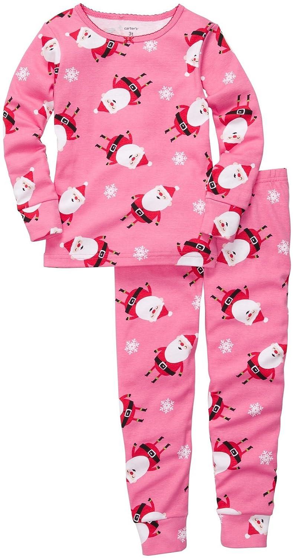 Carter/'s~Schlafanzug~USA~74-80~Weihnachten~Zweiteiler~pink~Weihnachtsmann~