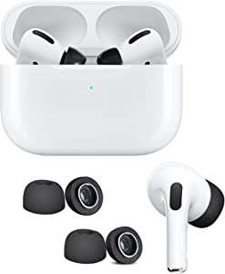 DamonLight Upgrade AirPods Pro Memory Foam Eartips [ONE Size Included, Save Your Money on Extra Size Tips] Sponge Silicone Replacement Ear Tips Buds for Airpods Pro 2 Pairs (Medium)