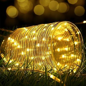 led luces solares de cuerda dinowin led ft impermeable alambre de cobre exterior tubo