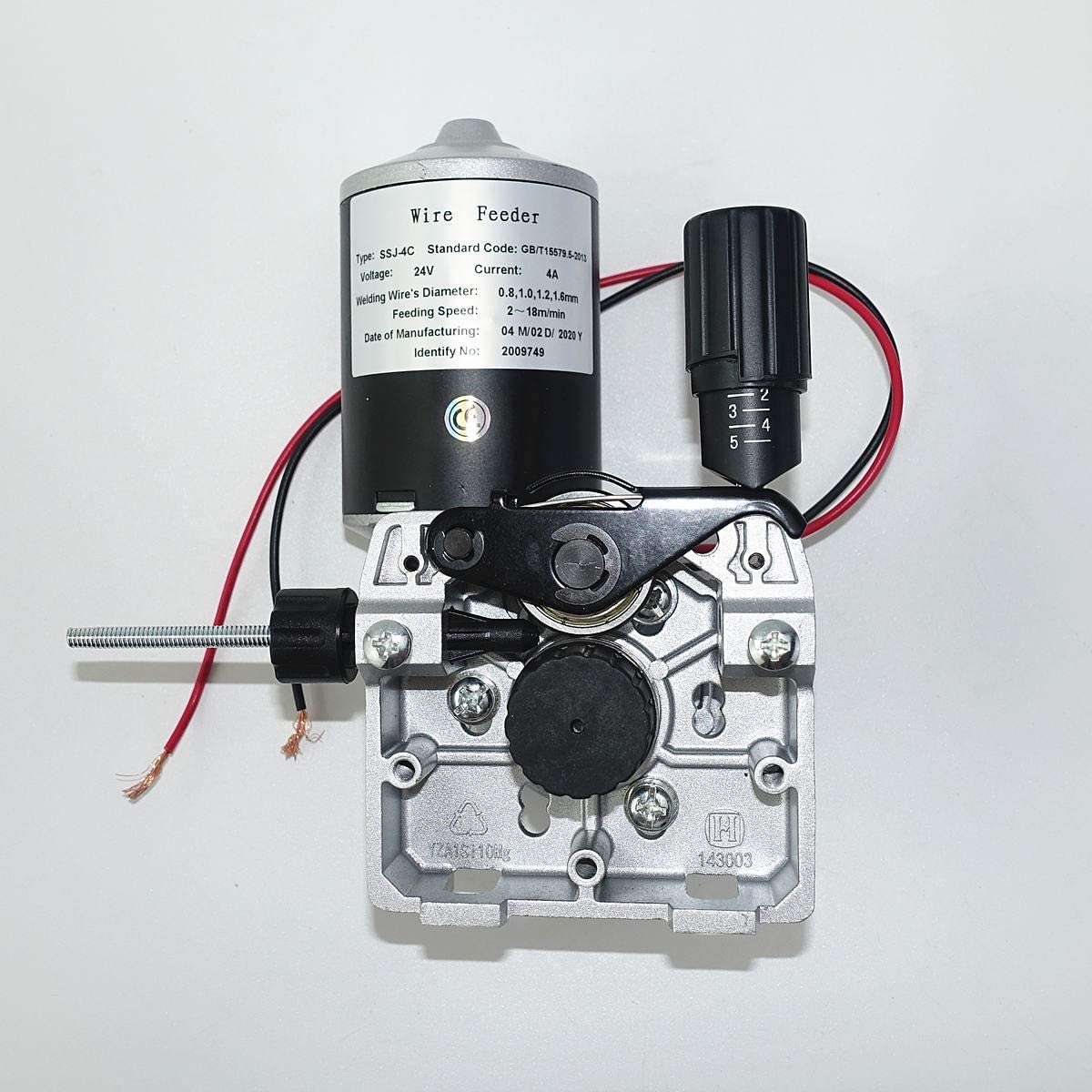Welding Wire Feeder Assembly 24v Dc Wire Feed Motor With Aluminum Alloy Flame Ssj 4c Amazon Co Uk Diy Tools