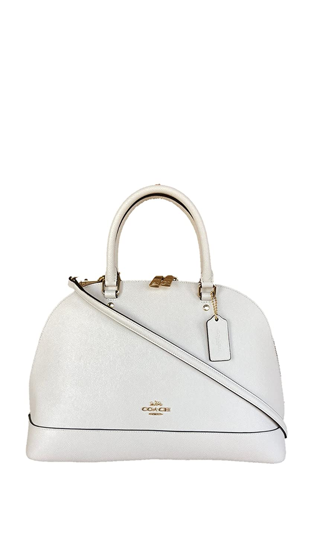 022633f84ccc Coach Crossgrain Leather Sierra Satchel - Chalk  Handbags  Amazon.com