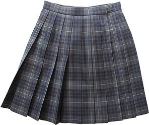 KR255 グレー×紺白 W63・66・69・72丈42cm KURI-ORI[クリオリ] スリーシーズンスカート seifuku skirt