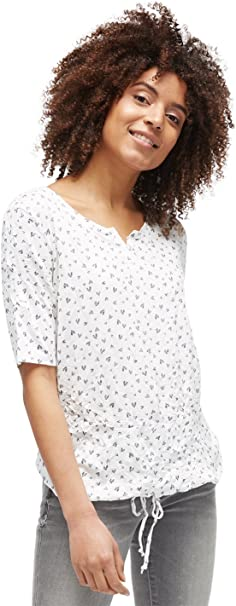 TALLA XL. Tom Tailor Alloverprinted Crinkle Shirt Camiseta para Mujer