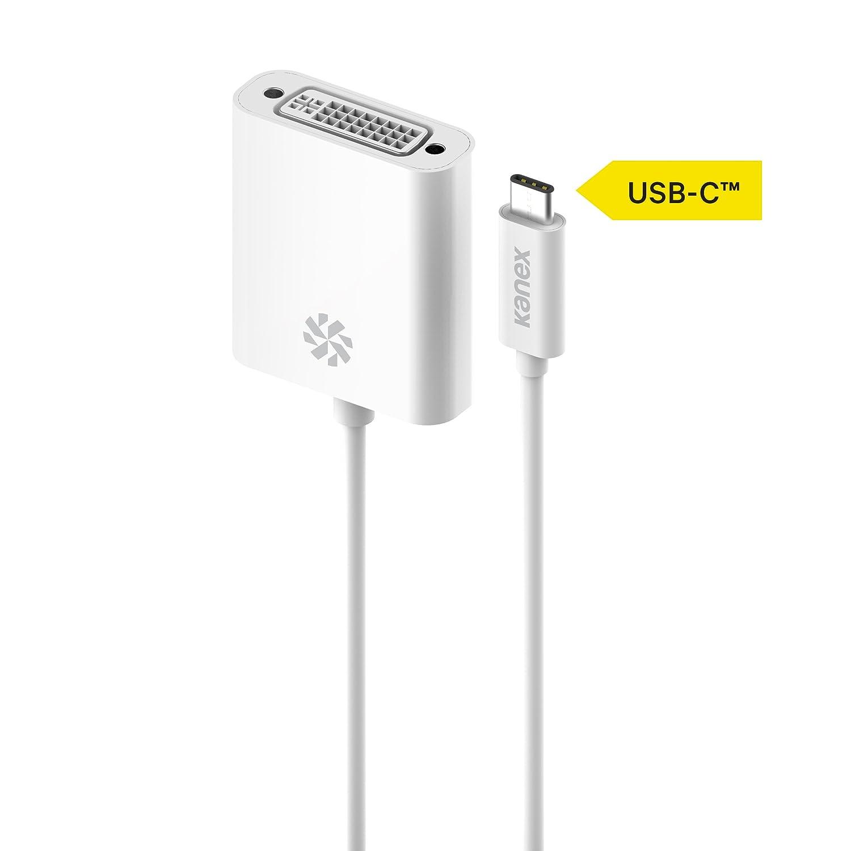 DVI-D 21cm Bianco Kanex USB-C