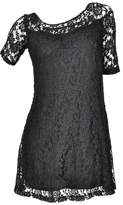 Adrian Lace Shirt Dress in Black