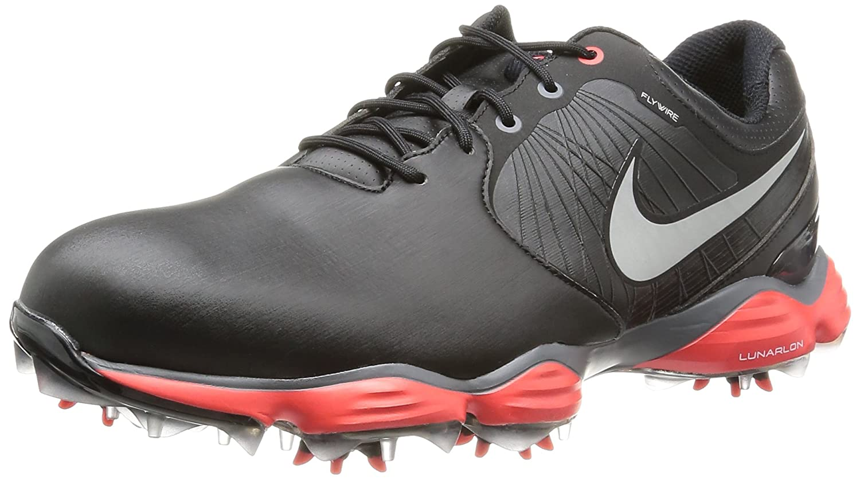 NIKE Golf Men's Lunar Control II SL 2E Golf Shoe, Black/Light Crimson/Reflect Silver, 10 2E US B00EPDODXI Parent