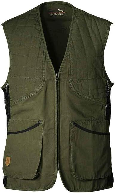 K&S Outdoors - Chaleco de tiro para hombre, diseño de rombos, para protección izquierda y derecha, de algodón