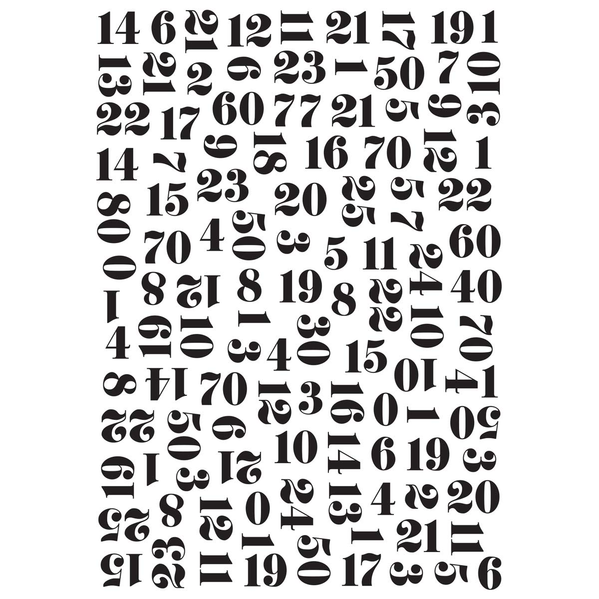 Kaiser Craft Embossing Folder 4 X 6 Inches Numbers (8 Pack)