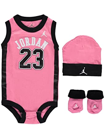 a82fae34cbae56 Image Unavailable. Image not available for. Color  Jordan Baby Clothes 3  Piece Basketball Jersey Set ...