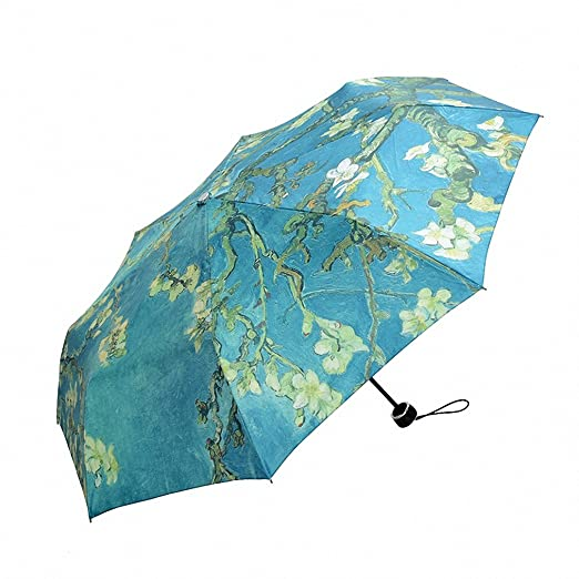 Amazon.com: Non automatic umbrellas Fashion Art corporation Blue Big parasols paraguas: Sports & Outdoors