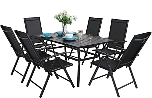MFSTUDIO 7PCS Outdoor Patio Dining Set