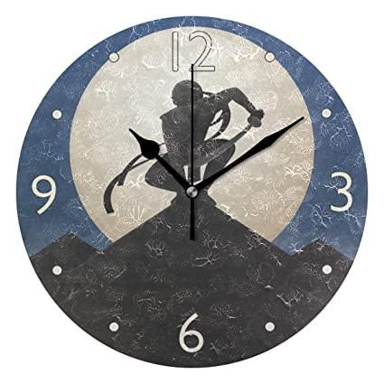 Amazon.com: MOYYO Japanese Ninja Wall Clock Decorative Round ...