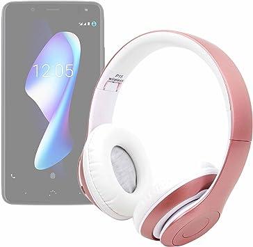 DURAGADGET Auriculares Plegables inalámbricos en Color Rosa para Smartphone BQ Aquaris VS, BQ Aquaris VS Plus: Amazon.es: Electrónica