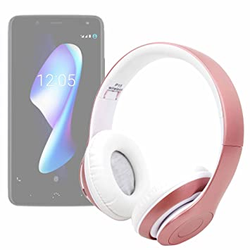 DURAGADGET Auriculares Plegables inalámbricos en Color Rosa para Smartphone BQ Aquaris VS, BQ Aquaris VS Plus: Amazon.es: Electrónica