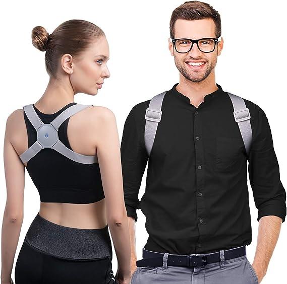 Konjac Smart Posture Corrector with Intelligent Sensor Vibration Reminder,back straightener posture corrector with Back Support for men, women, adults & kids.