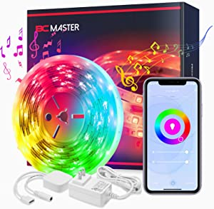 LED Strip Lights, BCMASTER Smart LED WiFi Strip Light Music Sync, Color Changing RGBW Lights 16.4ft Compatible with Alexa & Google Home, APP Remote Control for Bedroom Party Home TV Decoration, 5M