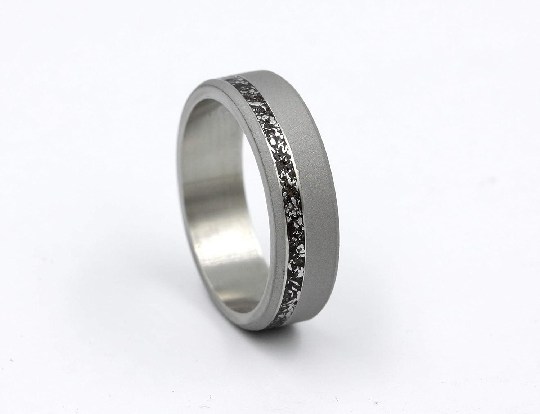 meteorite wedding ring